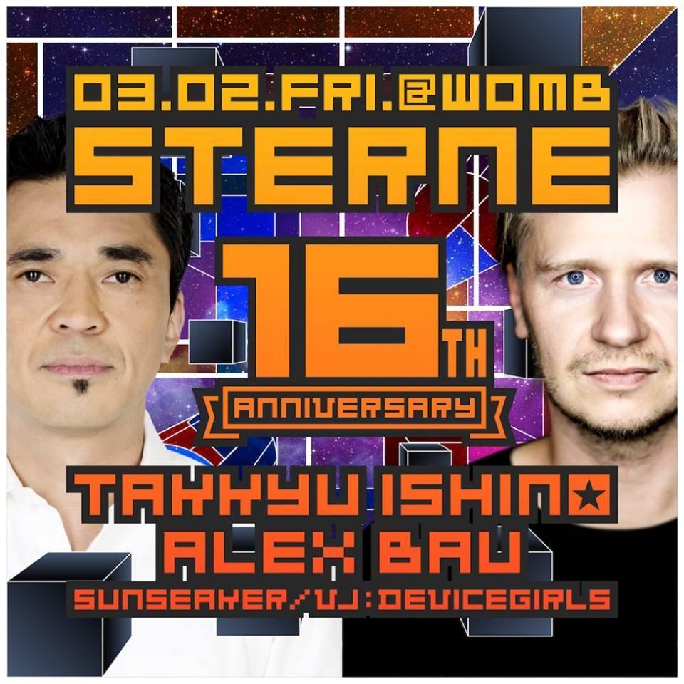 2018.3.2 FRI – KAI : DJ@WOMB / STERNE - GUEST: ALEX BAU