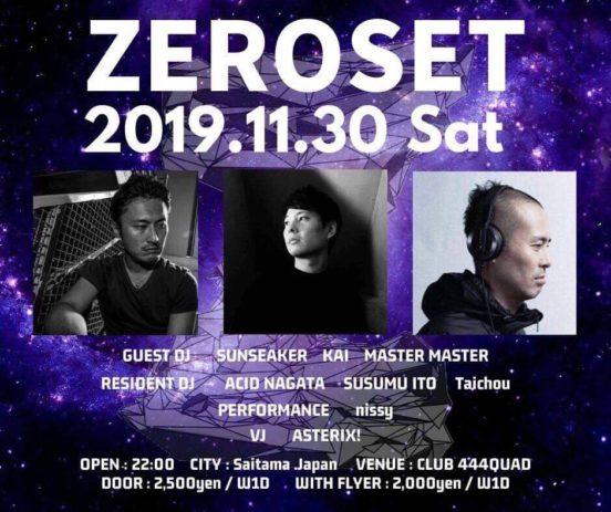 2019.11.13 SAT – KAI:DJ@ CLUB 444QUAD/ZEROSET